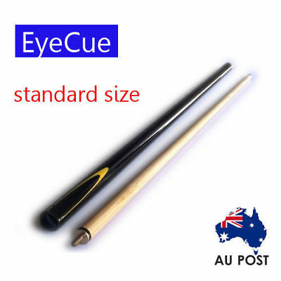 EyeCue Black Potter 2-Piece Cue Pool Snooker Billiard Standard size