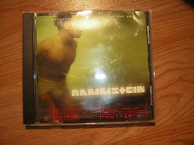 Rammstein Promo Cd 2001 Mutter 4 Song Sampler