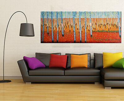 Australia tree original Art painting COA Huge Abstract Landscape Forest Tasmania