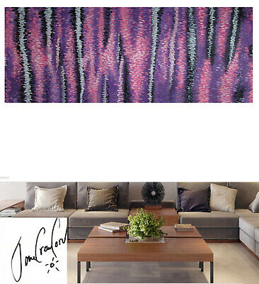 original modern art purple Dreaming non aboriginal  COA Huge painting Australia