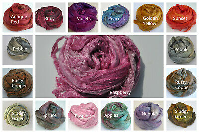 Heidifeathers® Mulberry Silk Tops, Hand Dyed - Choose the Colour