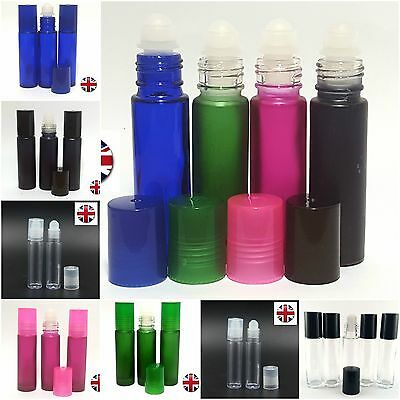*empty Glass 10Ml Roll On Bottles - Liquids, Essential & Perfume Oil- Refilable