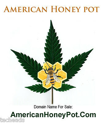 AMERICAN HONEY POT - CANNABIS Niche Domain Name for sale: AmericanHoneyPot.Com