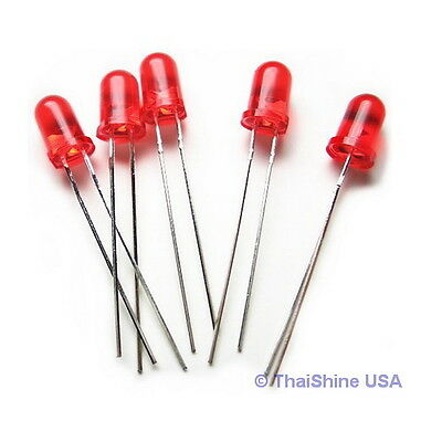 50 x LED 3mm Red - 4 Days Delivery! - USA Seller