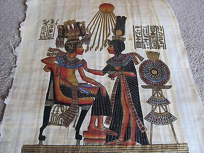 cultures & ethnicities EGYPTIAN TEMPLE SCENES ON REAL PAPYRUS 19PC 18X14 RARE