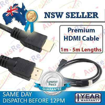 30cm 1m 3m 5m Premium HDMI Cable V1.4 Gold Plated 3D High Speed for Projector