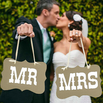 Mr and Mrs Wedding Photo Prop Wedding Decoration Bunting Banner - Vintage