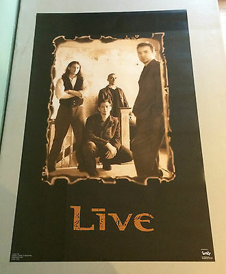 vintage Live Photo Poster Rock n Roll pin-up Funky Enterprises Brockum 1993 90s