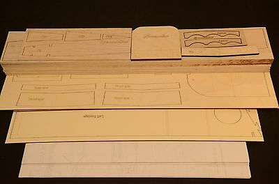 1/4.3 Scale SPACEWALKER Laser Cut Short Kit & Plans 78 in wing span