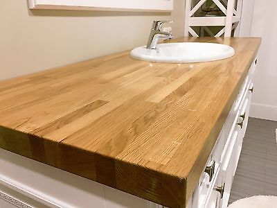 Oak Solid Wood Worktop, 20mm staves,Free Delivery