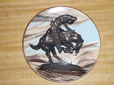 Frederic Remington Rattlesnake Museum Collection Collector Plate Cowboy & Horse