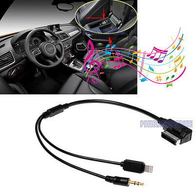 AUDI A4 A6 A8 AMI MMI For Apple iPhone 5 5c 5s 6 6 plus 8 pin & AUX 3.5mm Cable