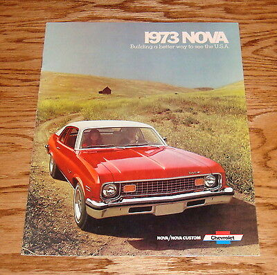 Original 1973 Chevrolet Nova Sales Brochure 73 Chevy