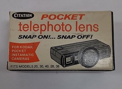 Vintage Citation Pocket Telephoto Lens For KODAK Pocket Instamatic Cameras