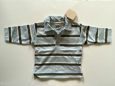 BNWT Timberland Baby 100% Pure Cotton Long Sleeve Polo Rugby Top 6 months Stripe