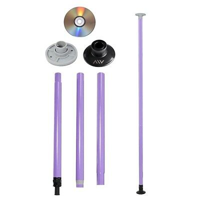 AW™ Dance Pole Full Kit Portable Stripper Exercise Fitness Party Dancing Purple
