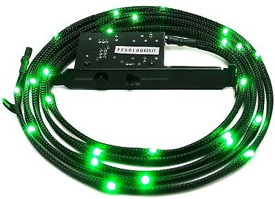 NZXT Sleeved Green LED Cable 100CM[CB-LED10-GR]
