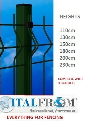 square post green wire mesh fences electrowelded fence panel