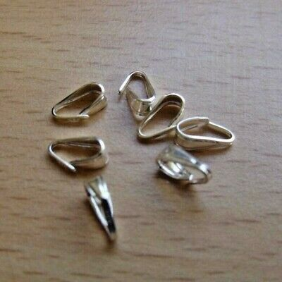 925 SOLID STERLING SILVER PENDANT BAILS 6 & 8mm FOR JEWELLERY MAKING AND REPAIRS
