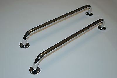 Pair of Boat Grab Rails/Handles 450mm 316 Stainless Steel. Highly Polished