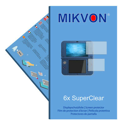 6x Mikvon films screen protector SuperClear for New Nintendo 3DS XL