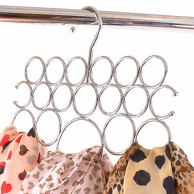 Scarf Holder Organiser Metal 18 Holes Shawl Pashmina Storage Scarves Hanger Tie