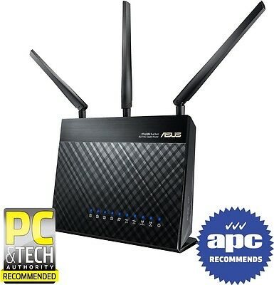 ASUS RT-AC68U 802.11ac Dual-Band Wireless-AC1900 Gigabit Router[RT-AC68U]