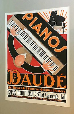 Vintage Pianos Daude Poster Carnegie Hall Pin-up 1981 How I met your mother