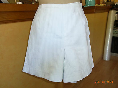 Short Coton Blanc Cotele Vintage 50/60  T38 / Withe Cotton Short Vintage 60's