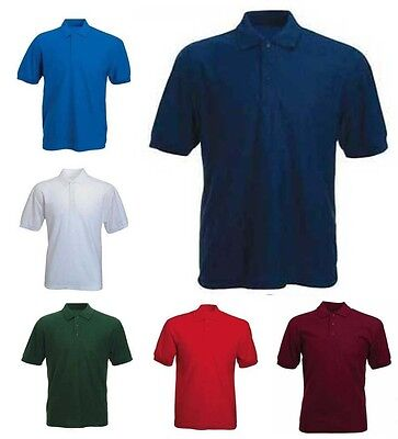 Mens Lightweight Pique Polo T Shirts Size S to 5XL SPORTS & CASUAL SHIRT BKS 510