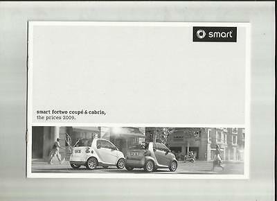 Smart Fortwo Coupe And Cabrio Inc.brabus Options Prices Sales Brochure June 2009
