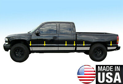"Dodge Ram EXT Cab Dually Bed 94-97 Stainless Steel 8.5/"" Wide Rocker Panel 12PC"