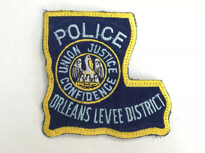New Orleans Levee District Louisiana State Police Dept. Patch Rare New Was Board