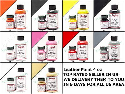 Angelus Brand Acrylic Leather Paint Waterproof 4oz