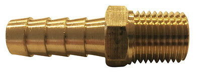 3/8 Hose Barb x 1/4 Male Pipe Thread (NPT) Brass Hose Barb, 6 Pack, # MPT-6-4