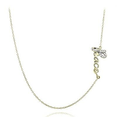 """Gold over 925 Silver Diamond Accent Flamingo Necklace 18/"""""""