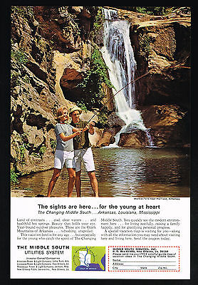 1965 Middle South Utilities Travel Marble Falls Photo Arkansas Vintage Print Ad