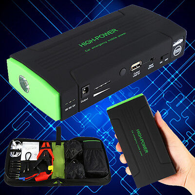 30000mAh Multi-Function Auto Car Jump Starter Charger LED Power Bank Battery