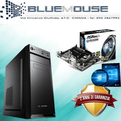 Pc Desktop Intel Quadcore 500Gb/8Gb Ram/vga/dvi/hdmi Usb 3.0 Win 10 Assemblato