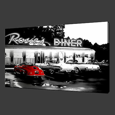Rosie's Diner Retro Quality Canvas Print Wall Art Ready To Hang