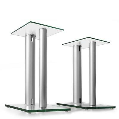Glass Tripod Speaker Floor Stands Home Cinema Hi-Fi New