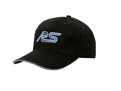 Ford RS Black Baseball Cap Hat Official Licensed Product by Richbrook