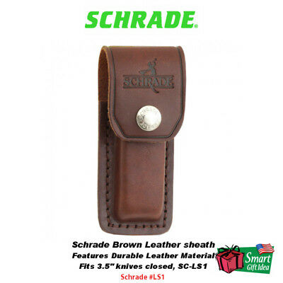 Schrade Leather Large Brown Sheath #LS1