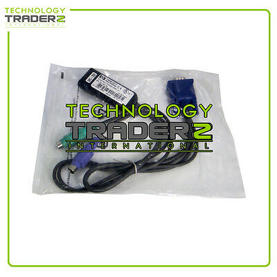 286597-001 HP PS/2 KVM IP CAT5 RJ45-to-VGA Adapter Cable *Factory Sealed Retail*