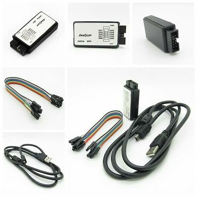 New Set USB Logic Analyzer Device USB Cable 24MHz 8CH 24MHz for ARM FPGA