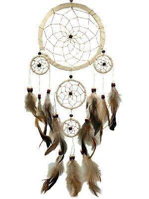 Large Feathers Handmade Dream Catcher car  wall hanging decoration ornament Be5