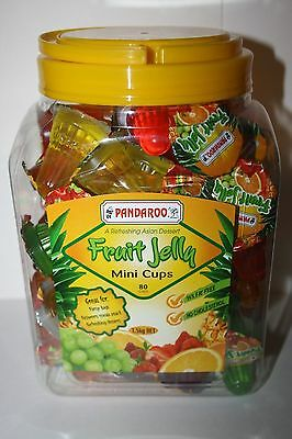 Pandaroo FRUIT JELLY Mini Cups 1.5kg box 80 cups