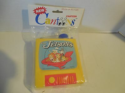 New 1990 The Jetsons Cartoon TV Shaped Canteen Cantoons Holds Up to 17 oz