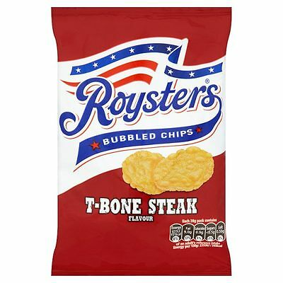Roysters Bubbly Chips TBone Steak 28g (FULL CASE of 28 packs) *Cheapest on Ebay*