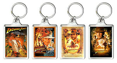 Indiana Jones Set Of 4 Keyring 4 Llaveros